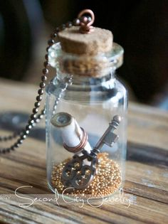 Secrets Mini glass terrarium necklace by SecondCityJewelry on Etsy
