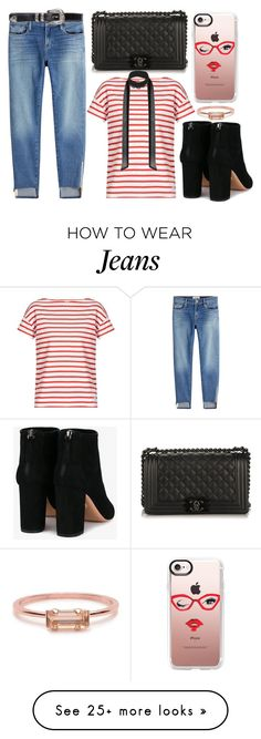 """""""street style"""" by sisaez on Polyvore featuring Frame, Chanel, Orcival, Miss Selfridge, Casetify, Aquazzura and Bing Bang"""
