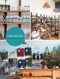 Foggy Notion: Such a lovely hidden gem tucked into what I recall being a former post office when I was little. The owner is super-friendly and she has a lovely mix of locally made and repurposed products (like those fun mason jars!), jewelry, leather goods and succulent plant arrangements—many designed and handmade herself. Her unique offerings are a fresh and fun addition to this neighborhood.