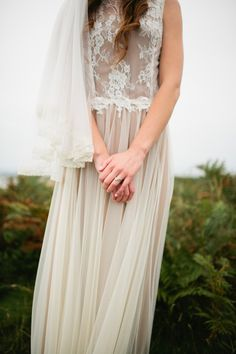 A bride wearing a Katya Katya Shehurina dress (purchased from Luella's Boudoir) for her whimsical woodland wedding.  Images by Green Antlers Photography.