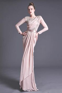 Beautiful blush wedding dress from Nurita Harith Bohemian Wedding Dresses, Colored Wedding Dresses, Modest Wedding, Blush Dresses, Bridal Dresses, Bridesmaid Dresses, Malay Wedding Dress, Muslimah Wedding Dress, Engagement Dresses