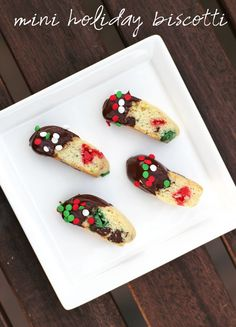 mini holiday biscotti #bakecraftsew