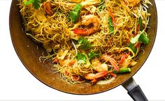 Singapore Noodles - Dry with a punch of curry flavour, this noodle dish is a stalwart of the Asian takeaway food scene. It's also simple to make at home! http://www.sbs.com.au/food/recipes/singapore-noodles Lunch Recipes, Lunch Foods, Vegan Recipes, Cooking Recipes, Vermicelli Noodles, Pasta Noodles, Singapore Noodles Recipe, Tasty Noodles Recipe, Sbs Food