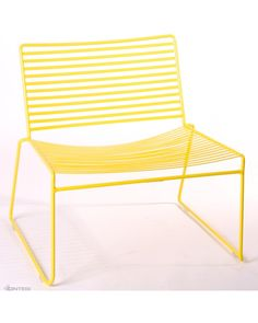The Arizona Wire Lounge Chair is a new addition to Cintesi's indoor and outdoor chair range. Manufactured from 12x3mm flat steel, fully welded together for superior strength. Zinc plated and powder coated for outdoor use. This is a lounge chair lower than standard seat height.