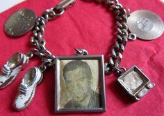 Vintage 1950s Handsome Pat Boone Charm Bracelet by Scentedlingerie, $16.25