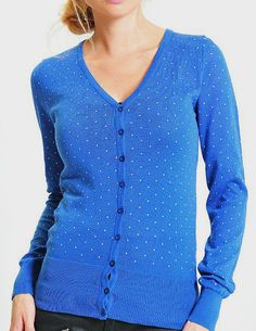 Blue Pin Dot Cardigan