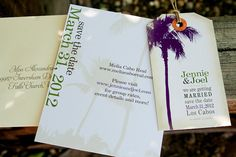 Save the Date Luggage Tags for a destination wedding!
