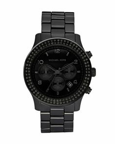 Michael KorsBlackout Glitz Watch  Gorgeous... But kinda hard to tell time when used in a dark space  Retail: $495