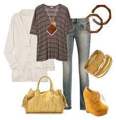 Casual by outfits-de-moda2 on Polyvore featuring moda, Inhabit, Splendid, Worn Jeans, Carla Mancini and Dorothy Perkins