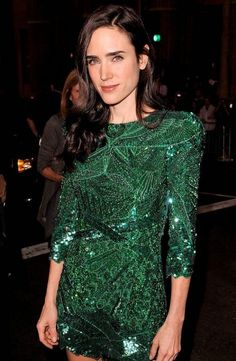 Emerald & Sequins on Jennifer Connelly