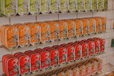 Cool Shops :: Loja das Conservas Tins and tins of sardines! Lisbon City, Tins, Karma, Travel Guide, Portugal, Shops, Traditional, Cool Stuff, Places