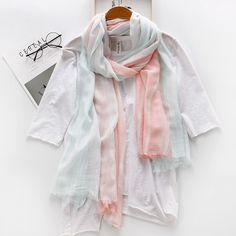 Cotton scarf (Light powder) NHNBS1667-Light powder Passende Ringe, Mode  Armbänder, 412b4e7c38