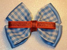 Dorothy from Wizard of Oz inspired Bow by PrincessMeeko on Etsy, $7.50