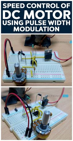 This is a simple DC motor speed control circuit designed using 555 timer IC. The speed Control of DC Motor is achieved using Pulse Width Modulation (PWM). Here, 555 timer IC works in astable mode. Electronics Projects, Simple Electronics, Electronic Circuit Projects, Electrical Projects, Electronic Engineering, Electrical Engineering, Electronics Gadgets, Engineering Tools, Chemical Engineering