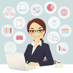 I am a virtual assistant. I work on Fiverr. If you can check out my virtual assistant gig.If you can check out my virtual assistant gig. Office Assistant Job Description, Office Assistant Jobs, Office Cartoon, Teacher Cartoon, Virtual Administrative Assistant, Virtual Assistant Services, Free Vector Images, Vector Free, Embroidery