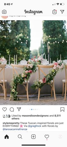 Elegant Pink Tuscan Wedding at La Foce in Italy – Style Me Pretty Wedding Chair Decorations, Wedding Chairs, Wedding Table, Beach Wedding Reception, Beach Weddings, Outdoor Weddings, Reception Design, Wedding Receptions, Simple Weddings