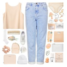 """""""collab with emma❁"""" by pheachy ❤ liked on Polyvore featuring Monki, DKNY, Topshop, Acne Studios, Jil Sander, Christian Dior, Dogeared, Kate Spade, Topman and Whistles"""