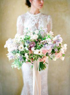 Photography: Jose Villa Photography - josevillablog.com Floral Design: Kelly Kaufman Design - kellykaufmandesign.com   Read More on SMP: http://www.stylemepretty.com/2016/02/29/dreamy-lilac-blush-wedding-inspiration/