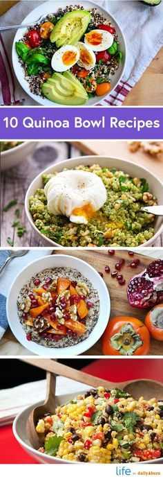 10 Quinoa Bowl Recipes for Breakfast, Lunch and Dinner #Healthy #Recipes