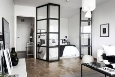 Home The Best Small Studio Apartment Design Ideas And Brilliant Tips Of Decorating- Studio Apartment Divider, Small Studio Apartment Design, Studio Apartment Layout, Small Studio Apartments, Studio Layout, Studio Apartment Decorating, Small Room Design, Cozy Apartment, Apartment Interior