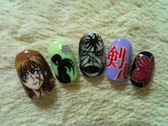 Rurouni Kenshin nail art