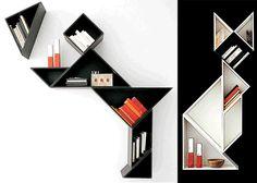 Tangram Bookcases.