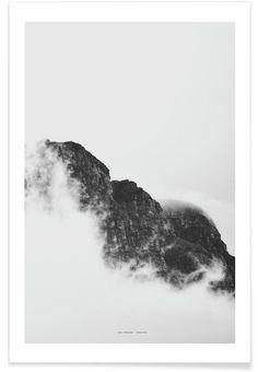 Mountain als Premium Poster door The Wall Shop | JUNIQE