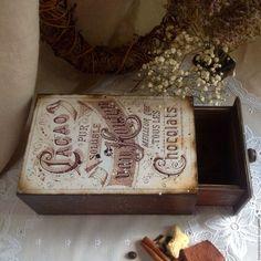 """Короб для хранения какао """"Van Houten"""" короб для кофе – купить в интернет-магазине на Ярмарке Мастеров с доставкой"""