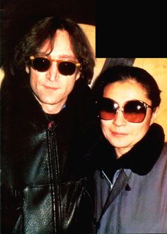 John Lennon and Yoko Ono on this day in 1980. (December 5th 1980.)
