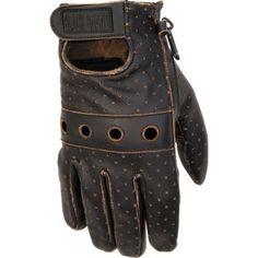 BLACK BRAND - Vintage Knuckle Leather Motorcycle Gloves - Leather - Gloves - Biker - Cycle Gear