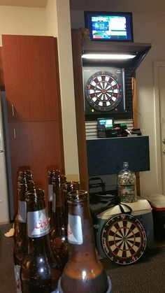 Dartboard Ideas, Dart Board, Liquor Cabinet, Furniture, Home Decor, Darts, Diana, Decoration Home, Room Decor