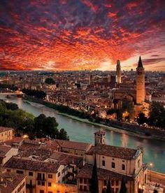 Tramonto su Verona (Matteo Righi -Verona Social)