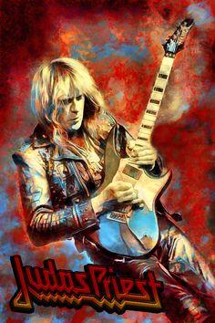 Metallica Art, Rock Band Posters, Fine Art Posters, Heavy Metal Rock, Glam Metal, Judas Priest, Star Art, Concert Posters, Rock Art
