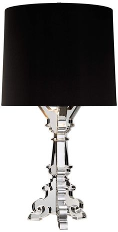 Baroque Silver Plate Acrylic Table Lamp | 55DowningStreet.com