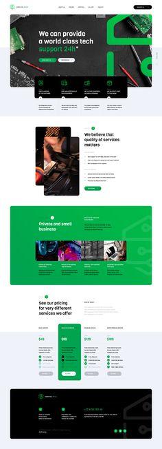 by Mateusz Madura Web Ui Design, Layout Design, Website Header Design, Website Designs, Corporate Website, Service Quality, Create Website, Ui Kit, Design Inspiration