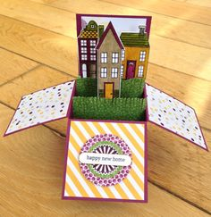 New home card in a box by Colleen Tyler @ maplesyrupdesigns