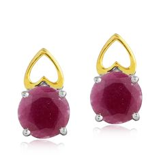 Get 10% off on this special collection with coupon code # RKSS003  Ruby studded Earrings in Sterling Silver