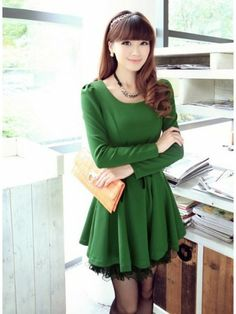 Korean Style : Green Fashion Inspiration | Circlelensdiary.com | Authentic Colored Contact Lens. Online Circle Lens Store.