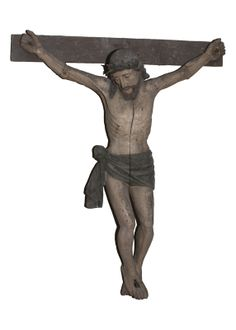 Crucifixion before restoration.