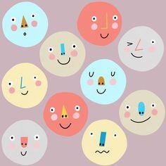Faces Cute Wallpaper Backgrounds, Wallpapers, Smart Art, Kids Logo, Kawaii Art, Children's Book Illustration, Whimsical Art, Cute Stickers, Pattern Wallpaper