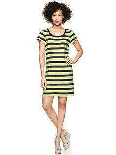 Essential striped scoop dress   Gap