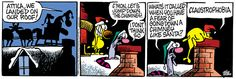 A daily comic strip by Mike Peters, Mother Goose And Grimm / 30. the best Christmas present for Mom Goose -30-