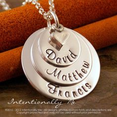 Hey, I found this really awesome Etsy listing at https://www.etsy.com/listing/84829633/hand-stamped-mommy-jewelry-personalized