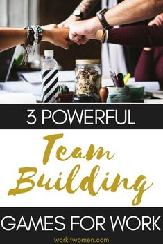 Increase your team morale and build positive relationships by trying these powerful and fun team building games to play work. Fun Team Building Activities, Work Activities, Leadership Activities, Movement Activities, Motor Activities, Physical Activities, Office Team Building Activities, Team Building Exercises, Team Morale
