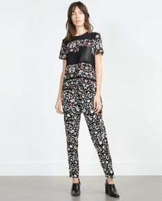 ZARA - WOMAN - PRINTED TOP - a great winter floral, perfect for a good old print clash