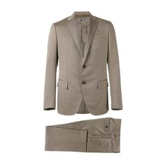 CARUSO Beige Formal Suit ($1,568) ❤ liked on Polyvore featuring men's fashion, men's clothing, men's suits, beige, mens formal suits and mens beige suit
