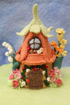 esta hermosa casita floral tejida por Sachiyo Ishii, te gusta???