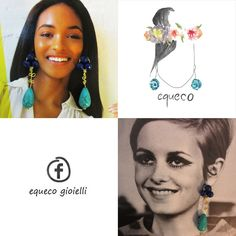 Jourdan Dunn and Twiggy with the Equeco earrings! For now only in my dreams XD    Earrings placed over the icons photos. Please don't sue me, it's for fun and you look great with these earrings! :)  #joudandunn #twiggy #fashion #fashionicon #earrings #covers #blogger