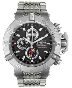 Invicta limited edition 500 pieces worldwide € 2950,- Automatic chronograph 500 meter waterproof with day, date, month and moonphase. www.megawatchoutlet.com