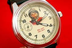 Vintage Russian USSR Space Watch 50 Years of Cosmic